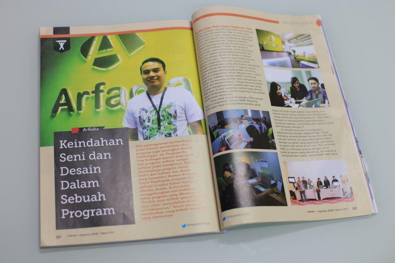 Review Arfadia Dalam Majalah Elshinta