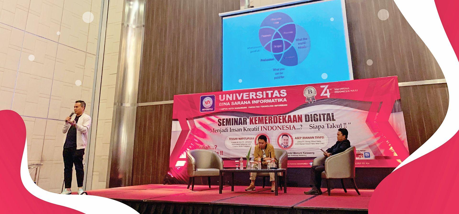 Seminar Kemerdekaan Digital, Tessar : Generasi Muda Sedini Mungkin Bisa Membedakan Hal Produktif atau Konsumtif