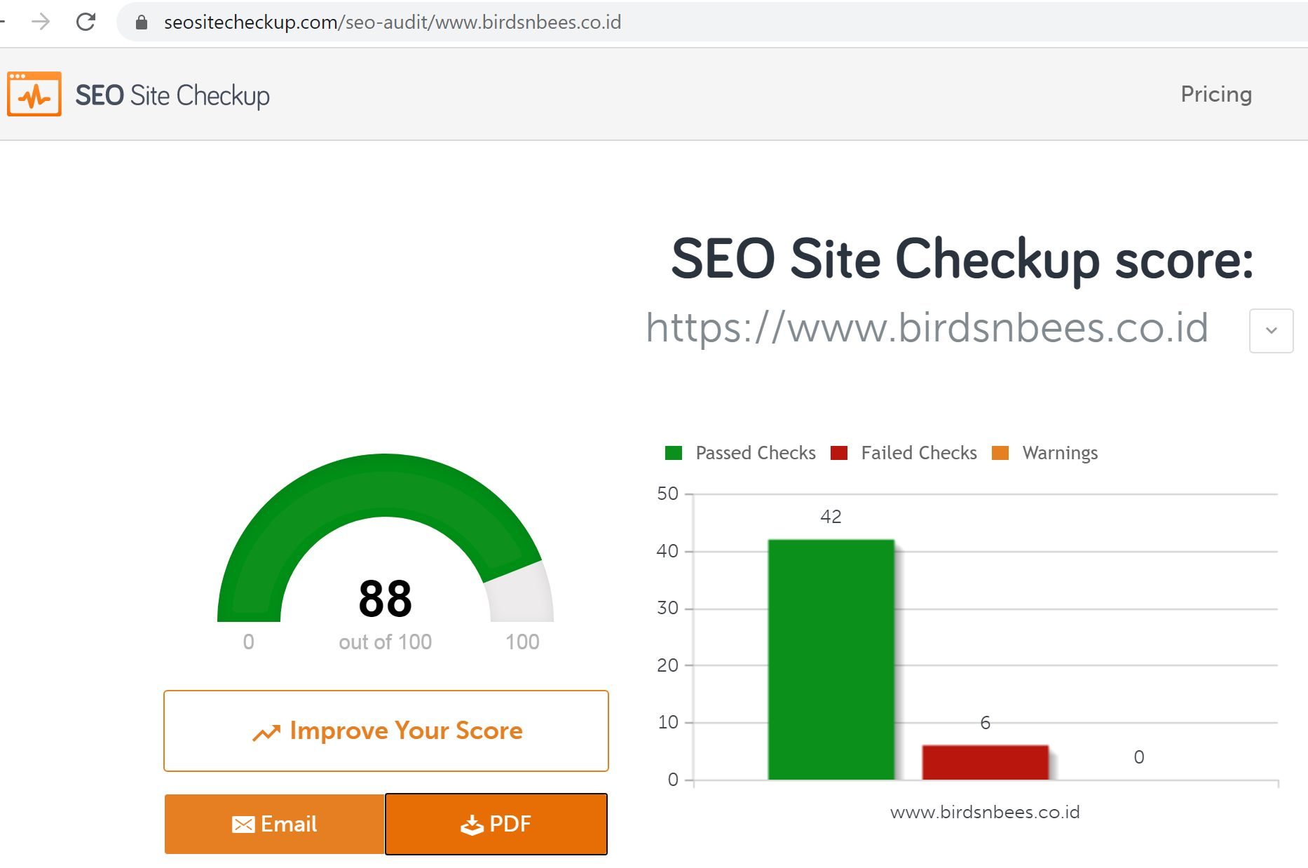 SEO and Website Audit oleh SEOSiteCheckup.com